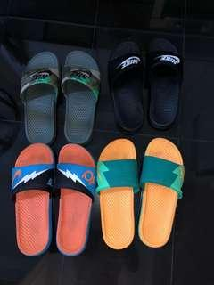 🚚 4 pairs of Nike slides size 11