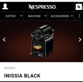 *FREE DELIVERY* Nespresso Inissia (Black)
