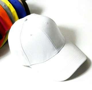 Topi putih baseball unisex