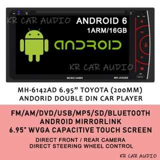 "MH-6142AD 6.95"" TOYOTA 200MM ANDROID DOUBLE DIN CAR PLAYER"