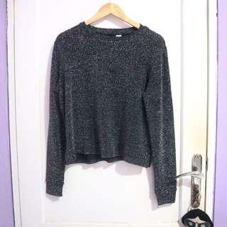 H&M Divided Long Glittery Top