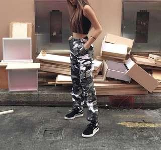 Camo Pants (Black & White)
