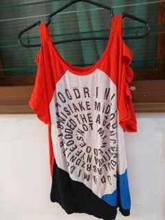 Preloved Blouse Wanita Orange Murah