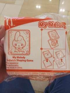 My Melody Sandwich Shaping Game from Happy Meal