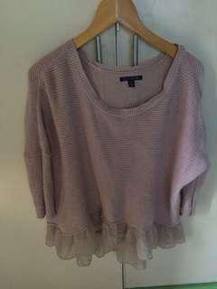 authentic american eagle peplum knitted