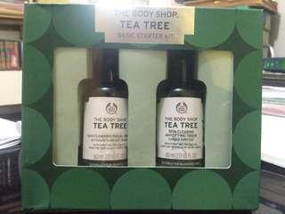 the body shop tea tree oil facial wash and toner