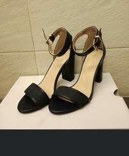 Zalora Strappy Sandal Block Heel