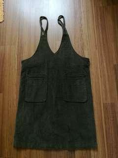 Dark brown pinafore style