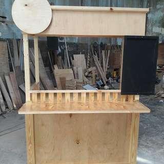 Stand booth  gerobak kayu jati belanda, murah, halus , rapih