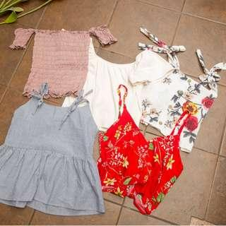 TRENDY TOPS BUNDLE (GET ALL FOR 120 EACH)