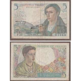 FRANCE 5 FRANCES 25-11-1943 P 98