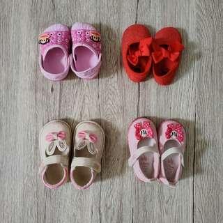 Sepatu newborn anak perempuan 4 psang