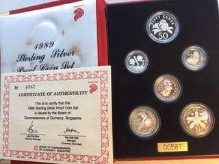 Singapore 1989 silver coin set