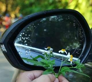 Rear view mirror rain proof film
