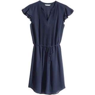 H&M Butterfly Sleeves Office Dress #MidSep50