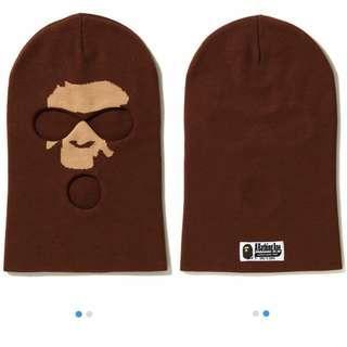🚚 A Bathing ape bape 猿人頭 套頭 歹徒帽 毛帽