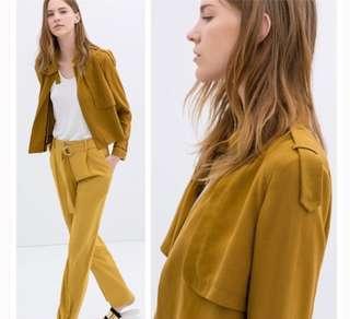 Zara Aline Jacket with Button Tab