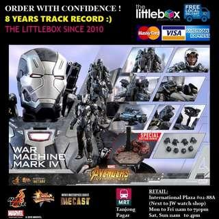 SPECIAL EDITION Hot Toys MMS499D26B Avengers: Infinity War 1/6 Scale War Machine Mark IV Diecast Mark 4
