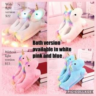 PREORDER - adults unicorn home wear slippers
