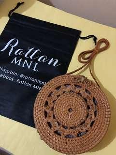 On hand! 20cm Rattan bag with braided design ~ Bow clasp 🌼