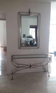 European Style Mirror and Side Table