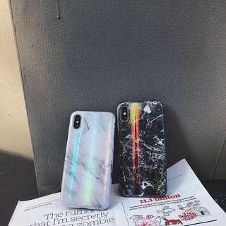 Holo Marble silicon Case Iphone 6 6s 7 8 plus x