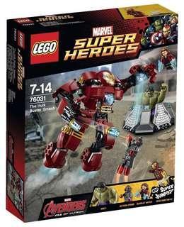 Lego 76031 Hulk buster Smash marvel super heros Ironman 樂高 絕版