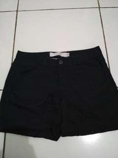 Giordano drop waist shorts hotpants black