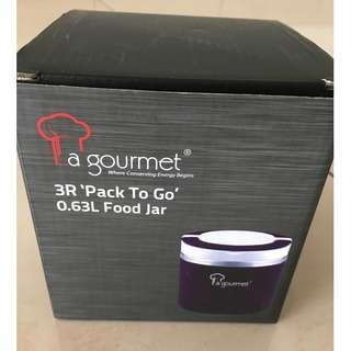 La gourmet 3R 'Pack To Go' 0.63L Stainless Steel Food Jar