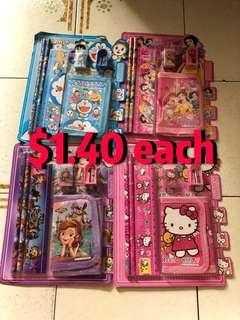 CHEAPEST!! $1.40 wallet set with stationery / Goodie bag