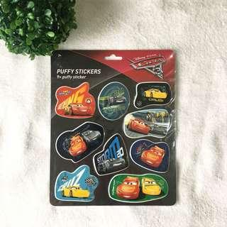 Auth BNWT cars mcqueen puffy stickers