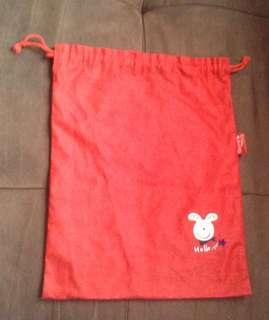 Little Suzy Red Drawstring Bag