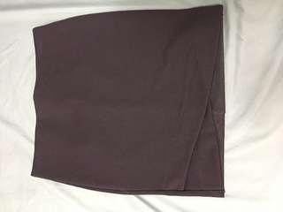 Pencil skirt in dark purple size S from h&m