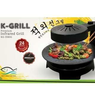 🚚 K-Grill Smokeless BBQ Grill (Brand New!)