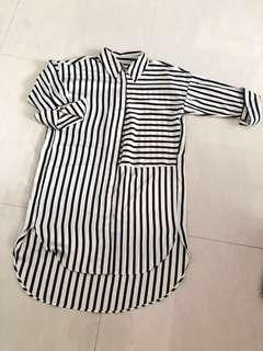 Brand New Stripes Long Top (Plus Size)