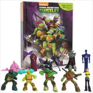 BN: Teenage Mutant Ninja Turtles My Busy Book including 12 Figurines and a Playmat
