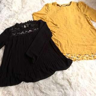 🚚 Bundle Of Long Sleeves Chiffon Tops