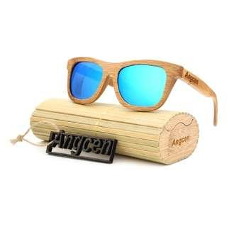 Genuine Wooden Sunglasses Full Eco Friendly Wood Sunglasses (case included)