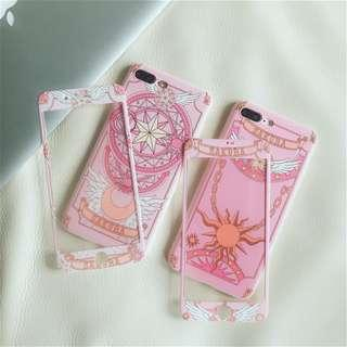 Sailor Moon Sailormoon Full Coverage Mobile Phone Case Casing Cover Shell + Matching Tempered Glass Screen Protector - Apple IPhone 6/6S, 6/6S Plus, 7, 7Plus, 8, 8Plus & IPhone X / 10 - Brand New Instocks Ready Stocks (Chibiusa Venus Japan comic Pink chic