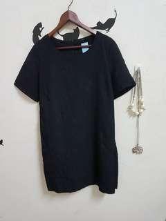 🚚 全新玫瑰壓紋短袖洋裝。dress