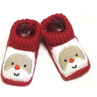 carter's 聖誕節 聖誕老人毛線造型鞋 嬰兒bb鞋 0-6m