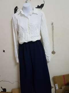 🚚 全新白色長袖襯衫