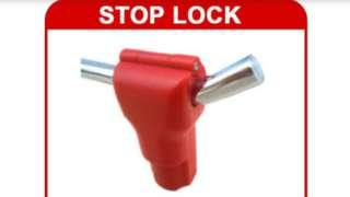 100pcs ANTI-THEFT RED MAGNETIC LOCK