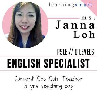School Teacher O level English Home tuition