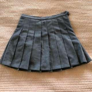 Suede Grey Tennis Skirt