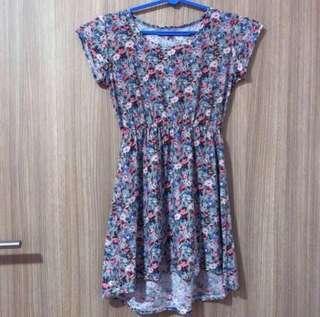 Floral Fishtail Babydoll Dress
