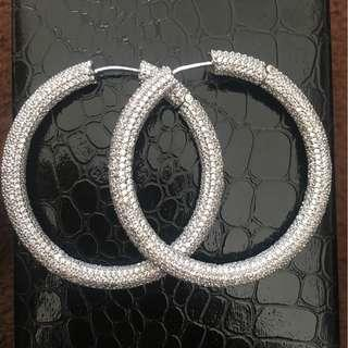Hoops made with cubic zirconia and semi precious stones