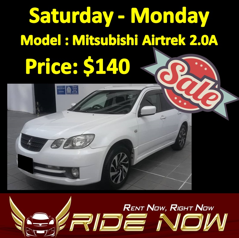 140 mitsubishi airtrek 2 0a sat mon rental cars vehicle rentals rh sg carousell com