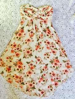 Hot options strapless floral dress