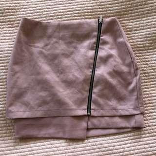 Pink Zip Miniskirt